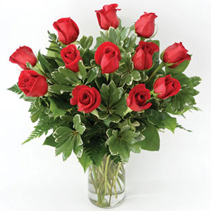 Traditional Roses In Vase