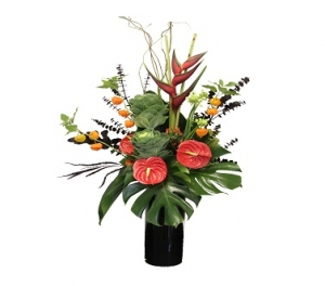 Tropical Flower Vase