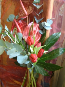 Tropical Gift Wrap Bouquet