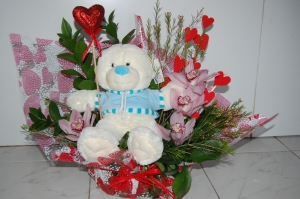 Valentine's Basket Cuddly Toy