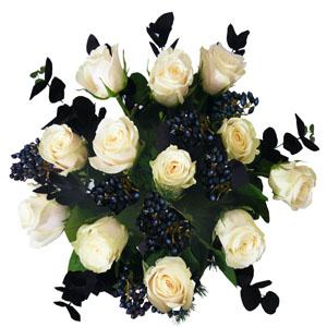 Valentine's Dozen White Roses