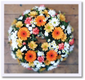 Vibrant Funeral Wreath