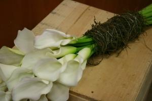 Wedding Posy Of Calla Lilies