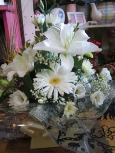 White Lily Boxed Arrangement