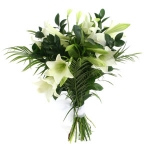 White Lily & Greens Hand-tie
