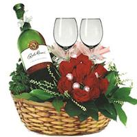 Wine And Roses Arrangement