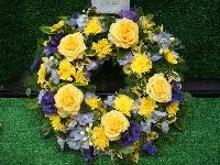 Wreath Of Open Flowers